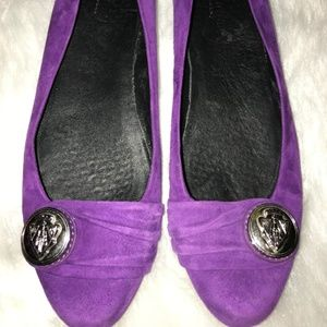 Gucci Shoes Crest Logo Flat Purple Fuschia  9